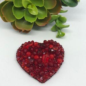 Handmade heart ❤️ brooch